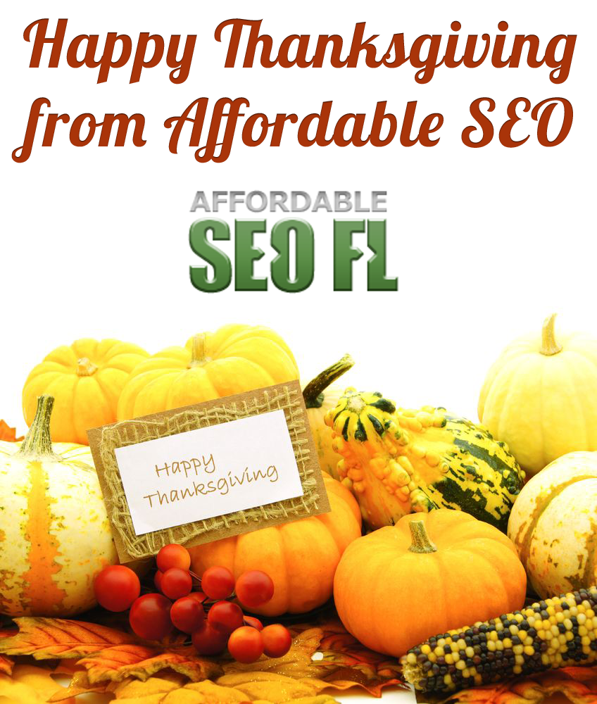 Happy Thanksgiving from Affordable SEO Tampa
