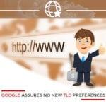 1.Google Assures No New TLD Preferences