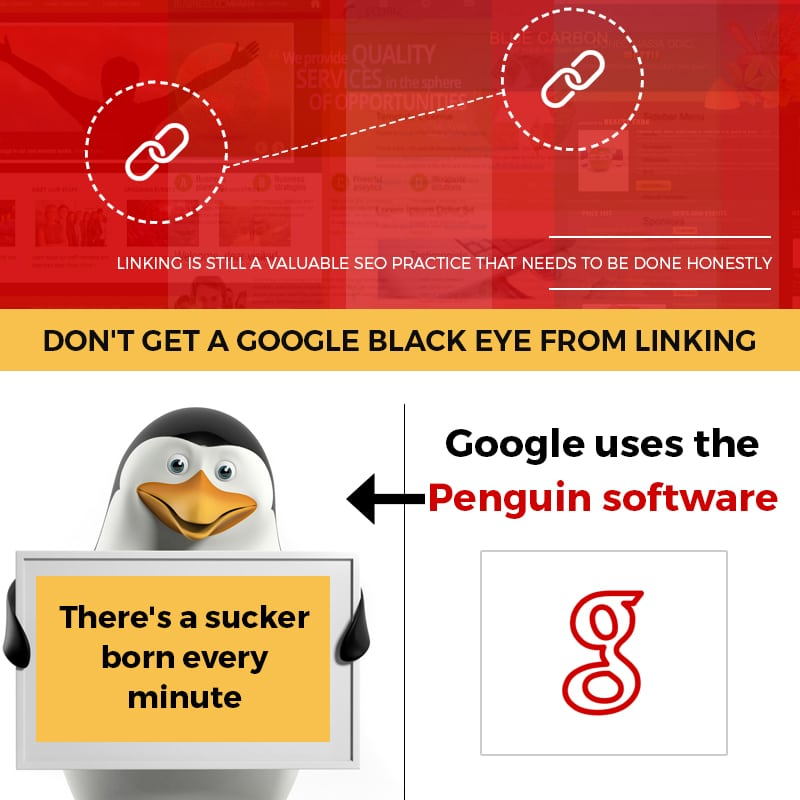 Don't Get A Google Black Eye From Linking
