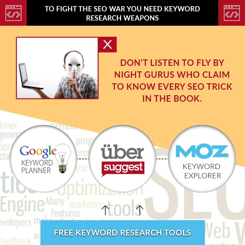 To Fight The SEO War You Need Keyword Research Weapons
