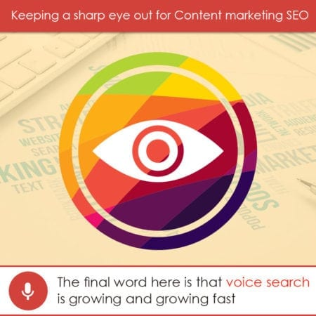Keeping a sharp eye out for Content marketing SEO