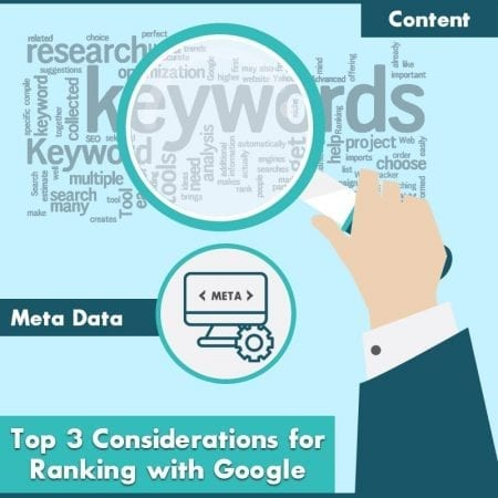 Top 3 Considerations For Ranking With Google
